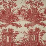 Fontainebleau Fabric Paon Reina Lin FONT81778111 or FONT 8177 81 11 By Casadeco